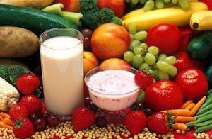 Milch-Jogurt-Früchte