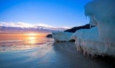 Göhren auf Rügen Sonnenaufgang im Winter