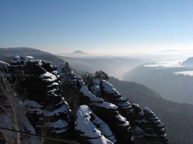 Winterliches Elbtal in Bad Schandau