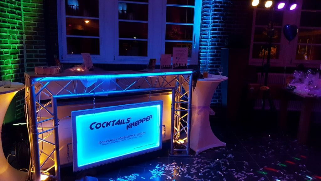 Mobile Cocktailbar in der Alten Lohnhalle in Wattenscheid