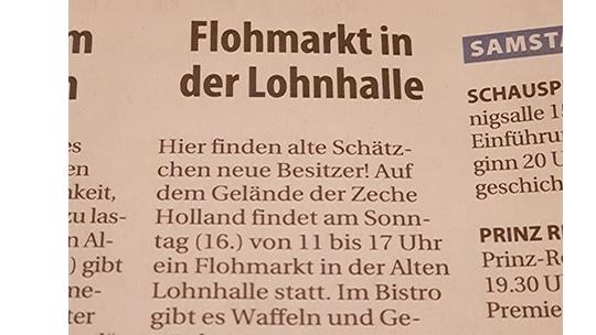 Knepper Mangement - Presse- Stadtspiegel Wattenscheid - Flohmarkt in der Lohnhalle