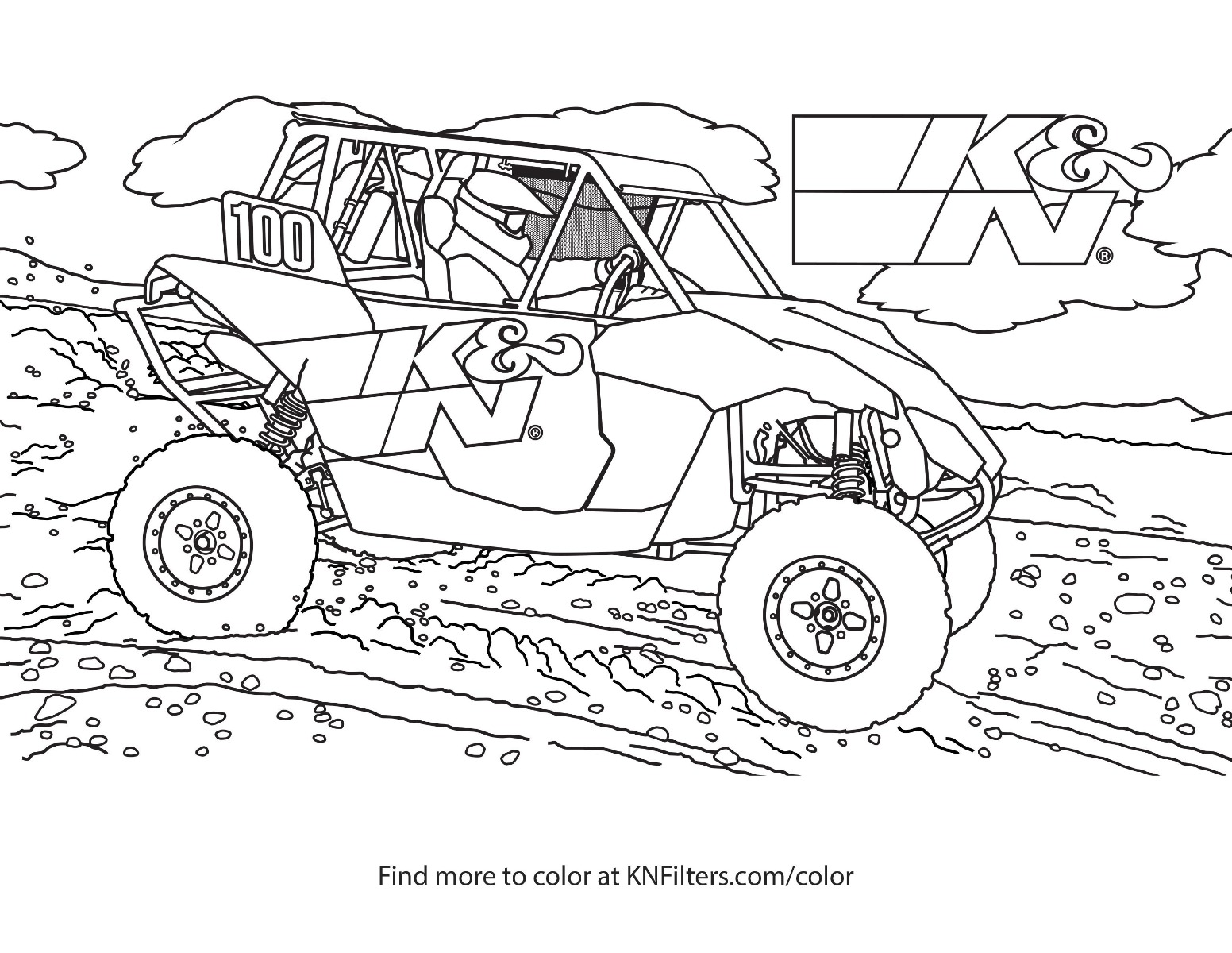Pages Coloring Dirt Truck Racer