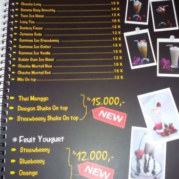 menu drink dan fruit youghurt