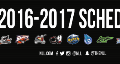 2016/17 NLL Schedule Published
