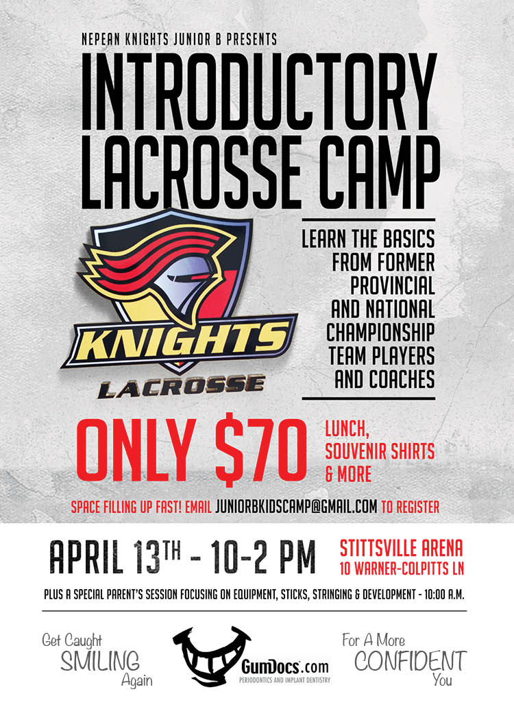 Jr. B to host introductory lacrosse camp April 13th