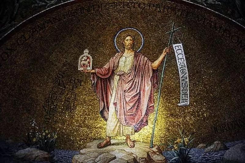mural of Christ, the Lamb of God