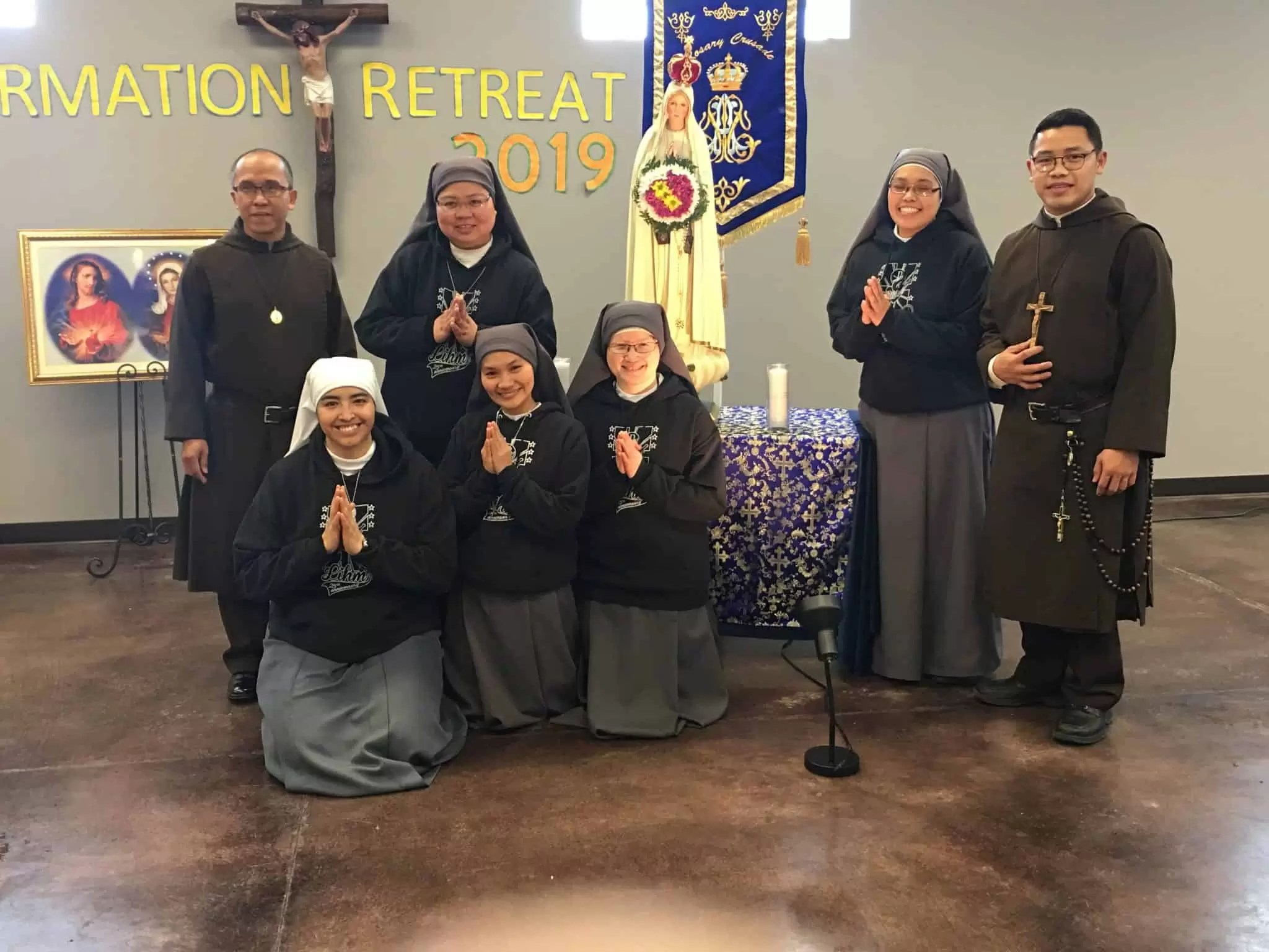 Brothers Julian and John with the SIsters at the retreat