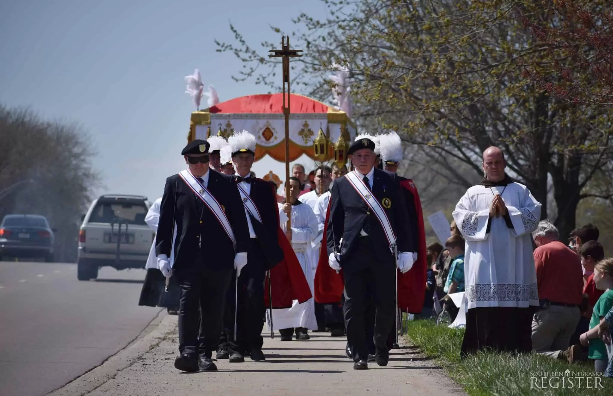 Br. Michael and others in procession