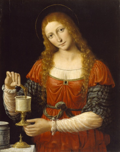 'Mary Magdalene', Andrea Solario and Bernardino Luini (ca. 1524 AD), at The Walters Art Museum