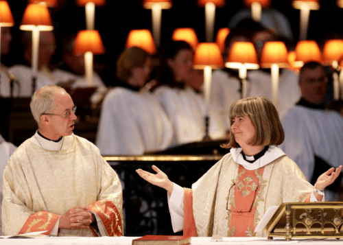 The Archbishop of Canterbury Justin celebrates 20 years of Women in the Priesthood of the Church of England (2014)