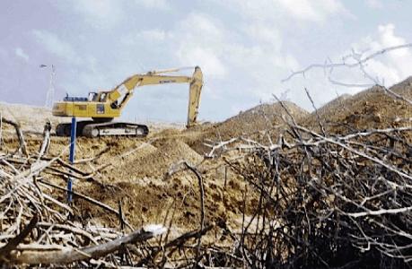 naast illegale afgraving van diabaas ook illegale vuildup Trai | Foto Ken Wong