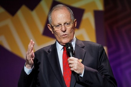 Peruvian President Pedro Pablo Kuczynski at a news conference at the conclusion of the APEC Summit in Lima. Thomson Reuters
