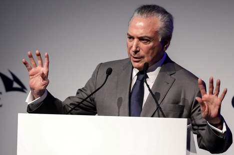 © EPA. President Temer van Brazilië   EPA/SEBASTIAO MOREIRA