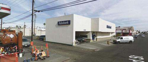 ATM Rabobank, Rockwood Avenue, Calexico, Californië, Verenigde Staten. ©