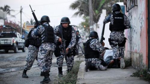 Mariniers tijdens een antidrugsoperatie in het Mexicaanse Veracruz. © Felix Marquez