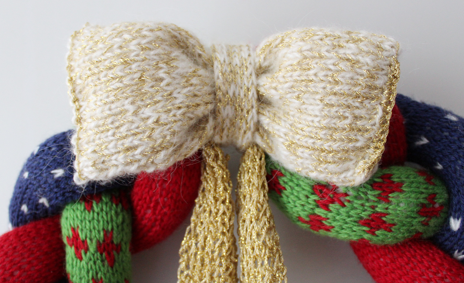 Knitted Christmas Wreath Knit Amp Crochet Christmas