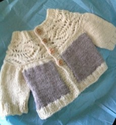 Lush cardi in BFL and Corriedale Alpaca blend