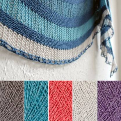 Pwani Shawl Kit in Summer Breeze colour kit