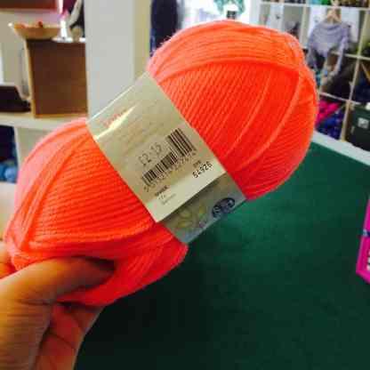 the GM salmon yarn!
