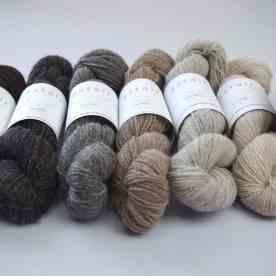 The range of Astair wool and alpaca blends
