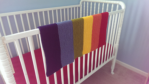 552071ade77bb The Easiest Baby Blanket to Knit - Advice for Beginners • Knit s All ...