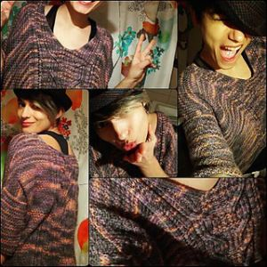 Lise Condis sousou sweater collage variegated beauty