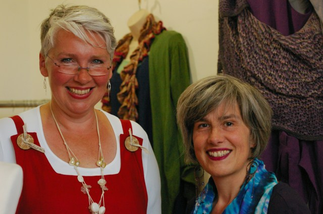Linda (left) and Andrea (right) AKA Tall Yarns'n Tales