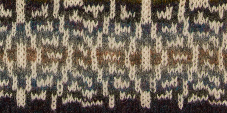 trying to capture the magic of tarmac's many shades in stranded colourwork