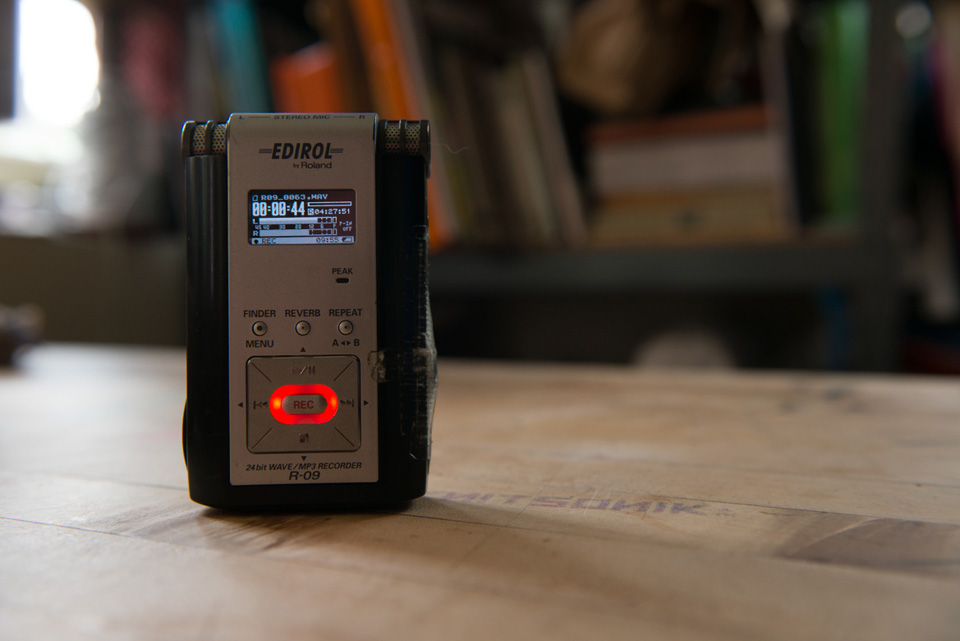 EDDIE, my beloved old hand held digital sound recording device