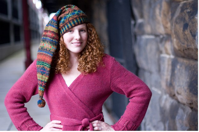 """Mary Jane Mucklestone likes to knit hats as a way to experiment with color combinations and Fair Isle patterns."""