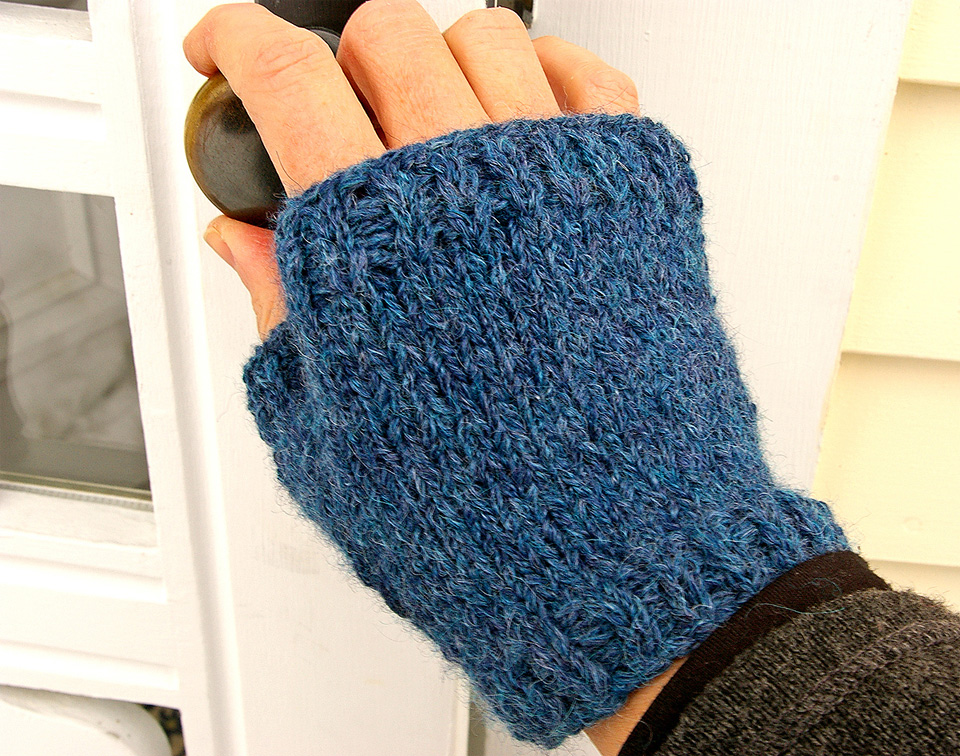 """""""Swatch Mitts, designed to give you the full swatching experience while also producing a simple, useful pair of fingerless mitts"""" - Clara Parkes"""