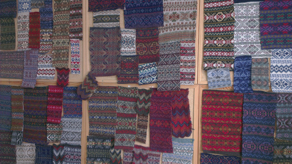 Incredible Fair Isle swatches by Wilma Malcolmson, AKA Shetland Designer