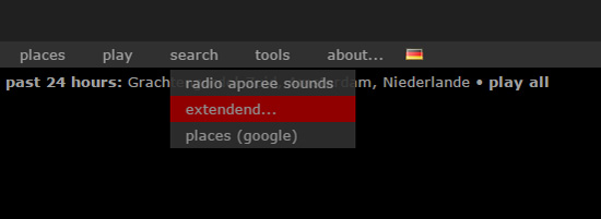 to find sounds on aporee, click on extended search and enter your terms...