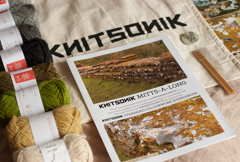 KNITSONIK mitts-a-long kits