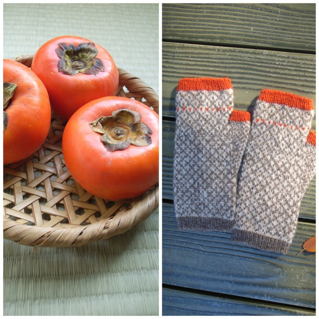 Persimmon mitts designed by Yumi