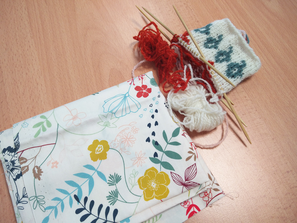 ...a fabric print becoming a clean-lined stranded colourwork design...