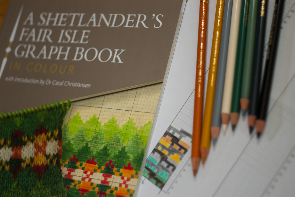 A Shetlander's Fair Isle Graph Book, published by The Shetland Guild of Spinners, Knitters, Weavers and Dyers