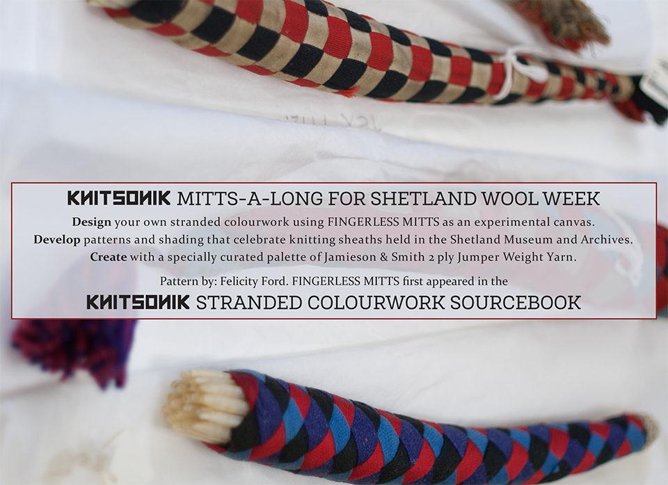 Shetland Knitting Sheaths Mitts-a-long pattern (cover detail)