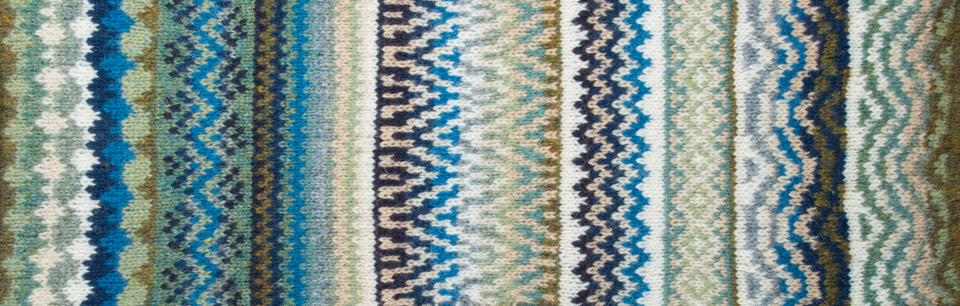 KNITSONIK swatch developed from the messy charts shown above