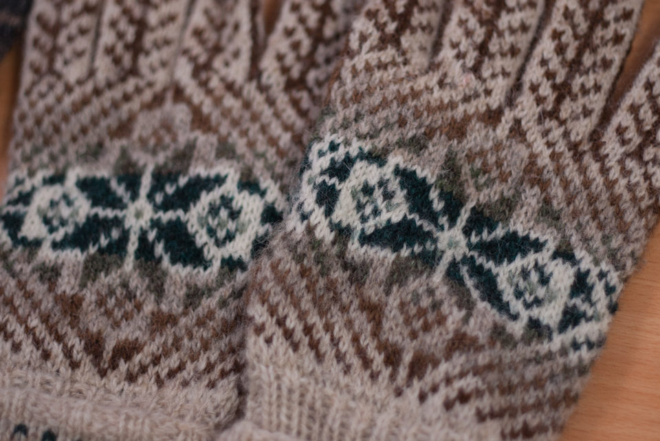 Beautiful Shetland gloves, bought by Sarah in Shetland on her travels earlier this year