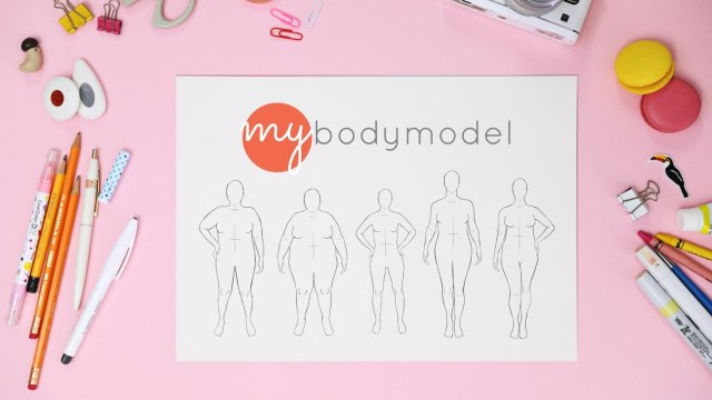 my body model: a lineup of different shapes and sizes of fashion croquis, all based on different, individual, diverse body shapes and heights