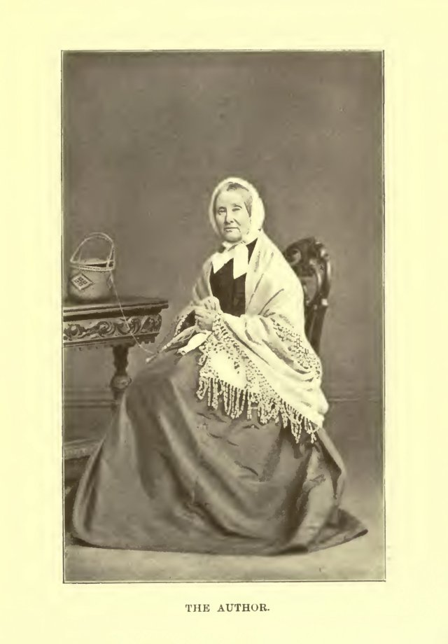 Elizabeth Grant pictured with her craft, wearing a shawl; author of The Memoirs of a Highland Lady