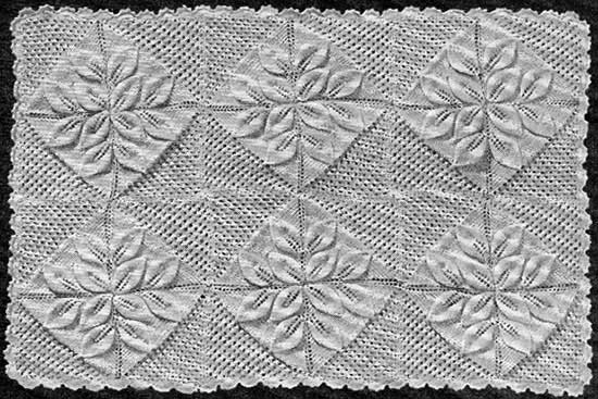 Pram Cover With Embossed Leaves 187 Knitting And Com