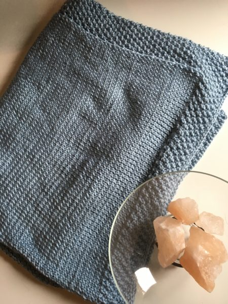 Double Seed Stitch Baby Blanket | Knitting in the Park