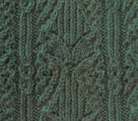 Vertical Leaf Lace Knit Stitch Knitting Kingdom Free Coloring Pages
