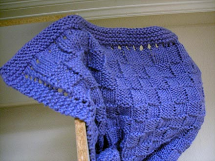 Easy Basketweave Baby Blanket Knitting Pattern