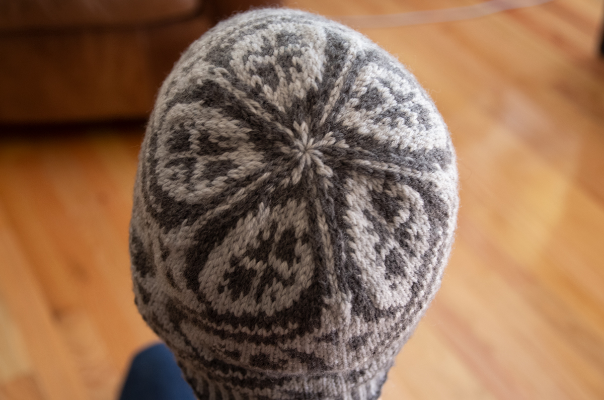 Top view of the Crossing Trails hat