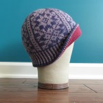 Hollis Hills Hat, with the brim turned up to show the lining