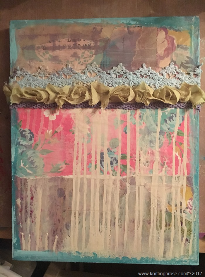 canvas with ribbons