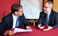 Kirchenpräsidentin Jung un Bernardini